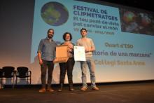Acte de l'entrega del premis del VII Festival de Clipmetratges